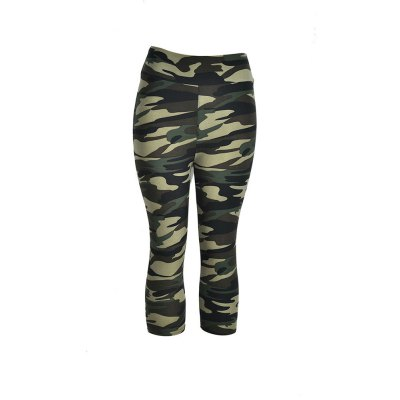 Buy CAMOUFLAGE GRAY L Camouflage Printing Yoga Pants for $9.84 in GearBest store