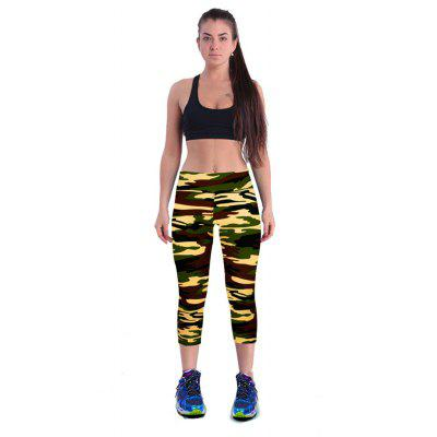 Buy CAMOUFLAGE L Camouflage Printing Yoga Pants for $9.84 in GearBest store