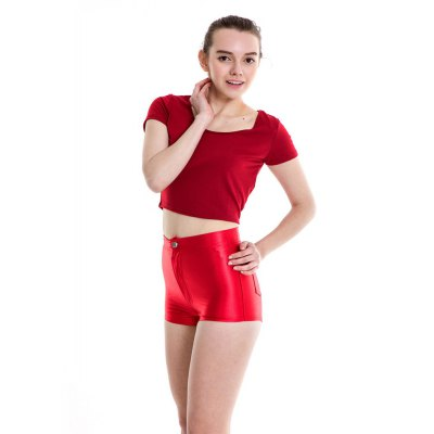 Disco Pants Shorts FluorescenceShorts<br>Disco Pants Shorts Fluorescence<br><br>Closure Type: Button Fly<br>Elasticity: Micro-elastic<br>Embellishment: Button,Pockets,Zippers<br>Fabric Type: Satin<br>Fit Type: Skinny<br>Front Style: Flat<br>Length: Bermuda<br>Material: Polyester<br>Package Contents: 1xShorts<br>Pattern Type: Solid<br>Style: Sexy<br>Thickness: Thick<br>Waist Type: Low<br>Weight: 0.1500kg<br>With Belt: No