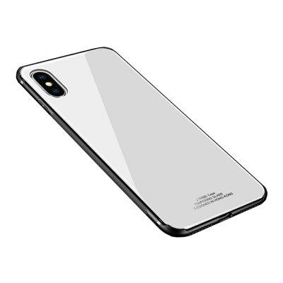 Voor iPhone X Case Luxe 2 in 1 TPU + Organic Glass Smooth Back Shell