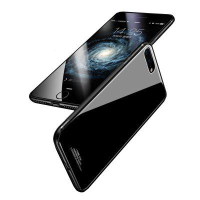 For iPhone 8 Plus / 7 Plus Case Luxury 2 in 1 TPU + Organic Glass Smooth Back Shell 360 degree rotating tpu pc thin carbon fiber ring support mobile phone shell case for iphone 7 plus 8 plus