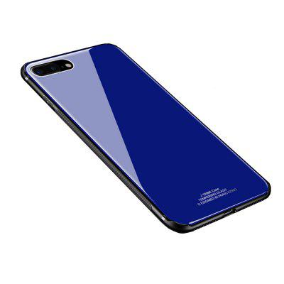 For iPhone 8 Plus / 7 Plus Case Luxury 2 in 1 TPU + Organic Glass Smooth Back Shell