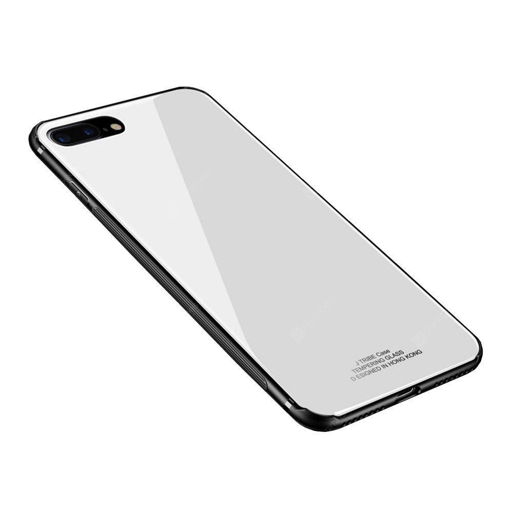 the latest 1227c 2a23c For iPhone 8 Plus / 7 Plus Case Luxury 2 in 1 TPU + Organic Glass Smooth  Back Shell