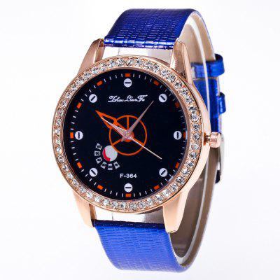 ZhouLianFa New Wristband Ladies Trendy Luxury Crocodile Pattern Rose Gold Diamond Watch with Gift Box