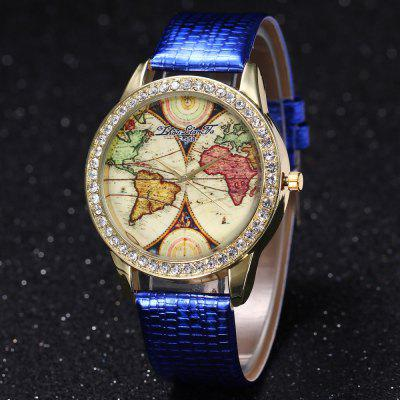 ZhouLianFa New Crocodile Pattern Gold Luxury Business and Leisure Diamond Map Quartz Watch with Gift BoxWomens Watches<br>ZhouLianFa New Crocodile Pattern Gold Luxury Business and Leisure Diamond Map Quartz Watch with Gift Box<br><br>Band material: PU Leather<br>Band size: 23 x 2cm<br>Brand: ZhouLianFa<br>Case material: Alloy<br>Clasp type: Pin buckle<br>Dial size: 4 x 4 x 1cm<br>Display type: Analog<br>Movement type: Quartz watch<br>Package Contents: 1 x Watch , 1 x Box<br>Package size (L x W x H): 14.00 x 9.00 x 6.00 cm / 5.51 x 3.54 x 2.36 inches<br>Package weight: 0.1000 kg<br>Product size (L x W x H): 23.00 x 4.00 x 1.00 cm / 9.06 x 1.57 x 0.39 inches<br>Product weight: 0.0300 kg<br>Shape of the dial: Round<br>Watch mirror: Mineral glass<br>Watch style: Casual, Fashion, Classic, Business, Retro, Lovely, Outdoor Sports, Childlike<br>Watches categories: Women,Female table<br>Water resistance: No