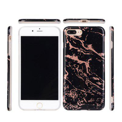 Hot Granite Marble Texture Phone Case Soft IMD Back Cover for iPhone 7 Plus / 8 Plus imd patterned tpu gel cover for iphone 7 plus 5 5 inch tribal dream catcher