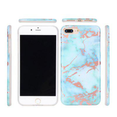 Hot Granite Marble Texture Phone Case Soft IMD Back Cover for iPhone 7 Plus / 8 Plus for iphone 7 4 7 inch muti color electroplating imd soft tpu phone cover diamonds