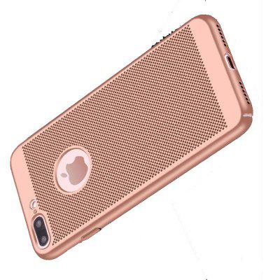 Heat Dissipation Breathable Matte PC Phone Case for iPhone 7 Plus / 8 Plus 360 degree rotating tpu pc thin carbon fiber ring support mobile phone shell case for iphone 7 plus 8 plus