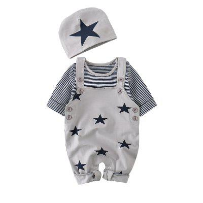 TAOQIMAIDOU Baby Clothes Autumn Newborn Boy Girl Clothes Set Baby Fashion Infant Brand Products Newborn Romper MD150Q10