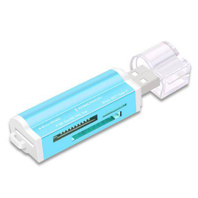 4 in 1 Mini USB 2.0 Card Reader Hub with TF / SD Card Slot