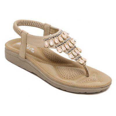 Ladies Rubber Sole Water Drilling Flat Shoe Beach Shoes