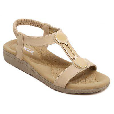 Ladies Rubber Sole Sandals with Flat Shoes Foreign Trade Size Beach Shoes