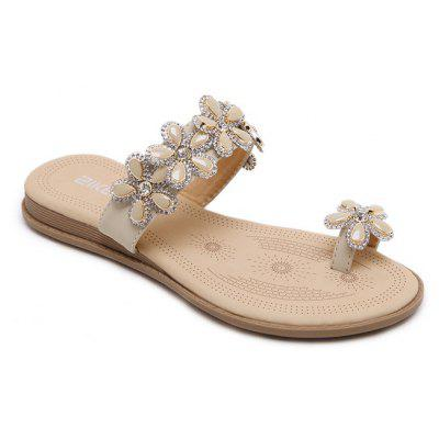 Ladies' Flowers and Water Drill Sandals