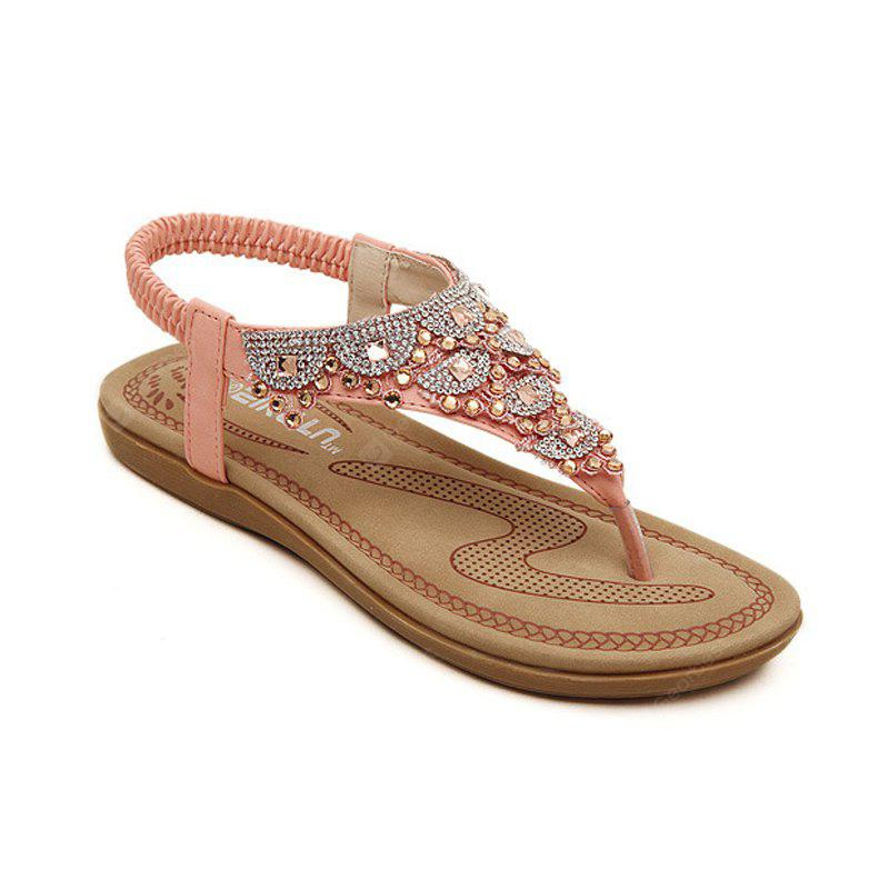 Ladies Rubber Sole Clip Toe Foreign Trade Size Beach Shoes