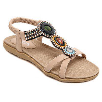 Ladies Rubber Sole Beads Foreign Trade Large Size Sandals