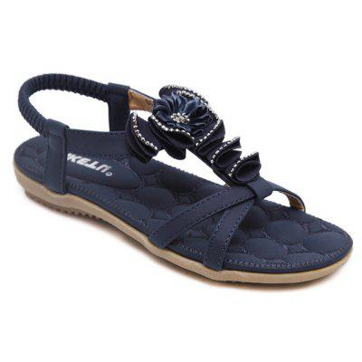 Women'S Applique Sandals Are Made of Large - Sized Flats