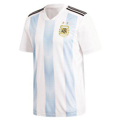 Argentina 2018 Copa del Mundo Home Football Team Messi Short Sleeved Suit