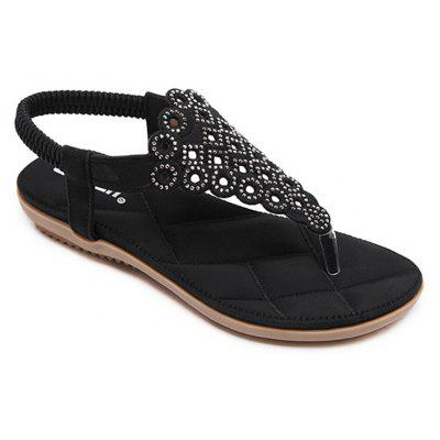 Ladies Rubber Sole Water Drilling Foreign Trade Size Shoes