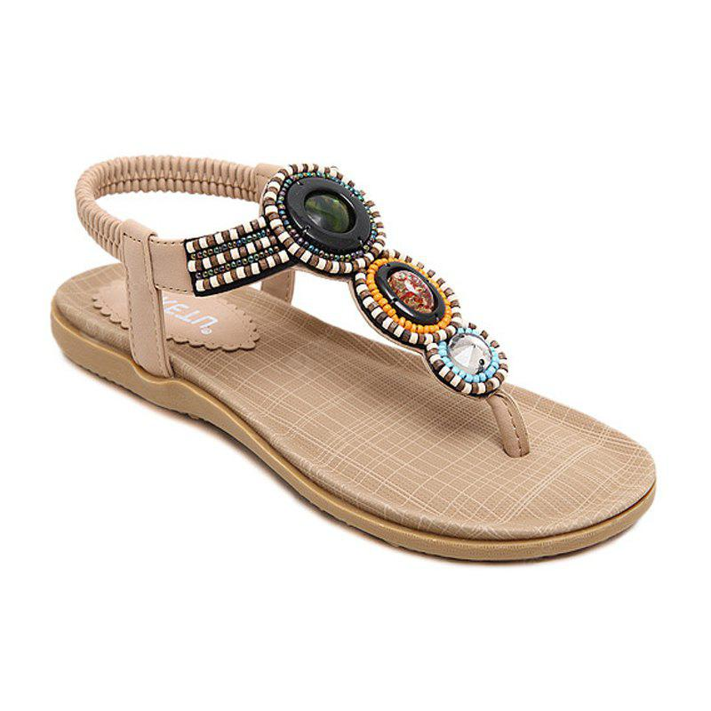 The Lady Beaded Foreign Trade Large Beach Flats