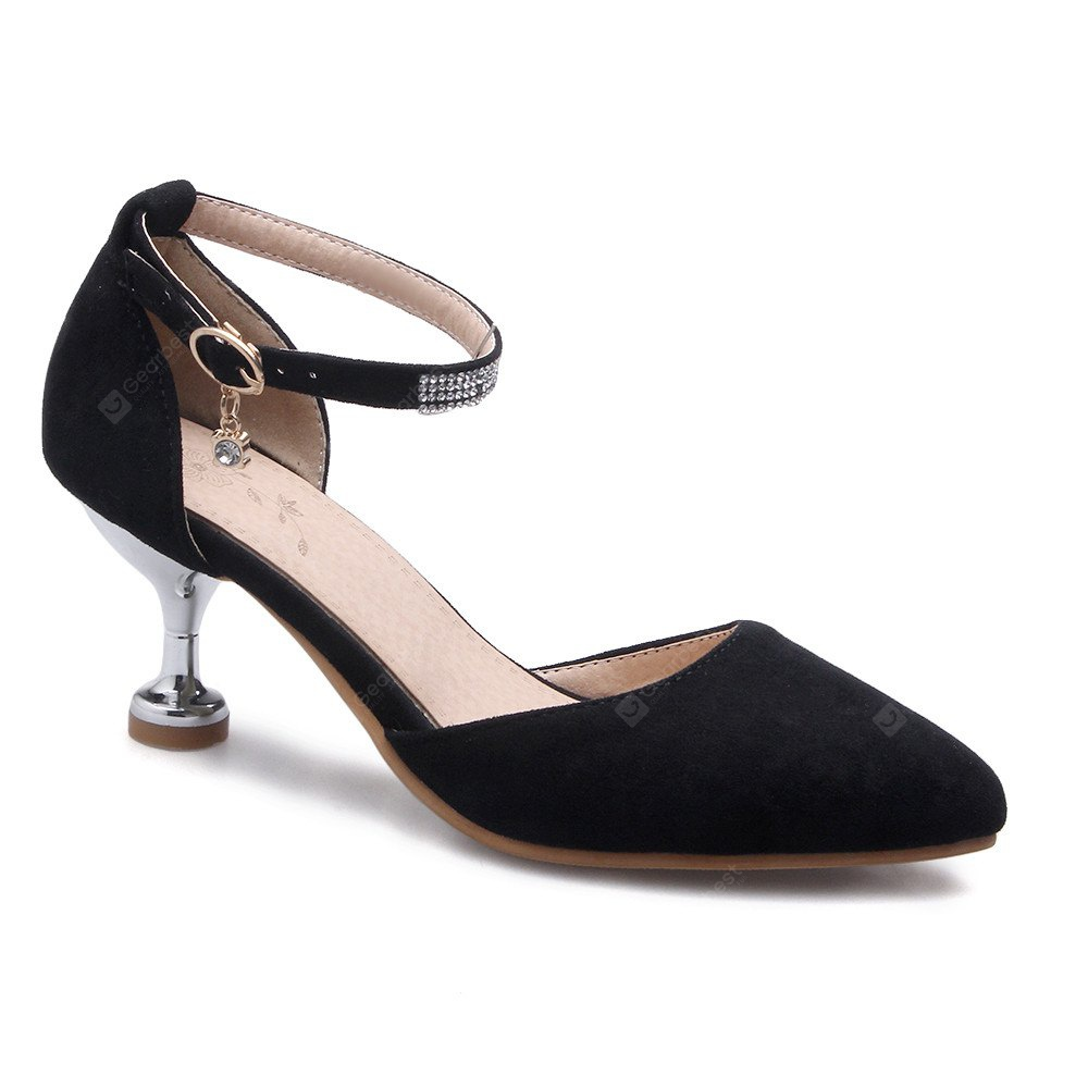Miss Shoes 559 Pointed Glasses and Fashionable Single Shoes