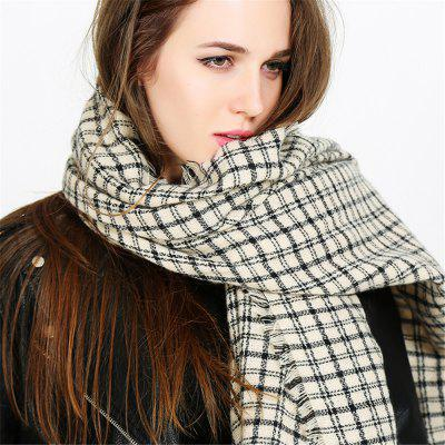 Fashion warm and black-and-white Plaid Scarf