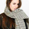 Fashion warm and black-and-white Plaid Scarf - BEIGE