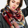 Coloured plaid like cashmere warm scarf - BRIGHT RED