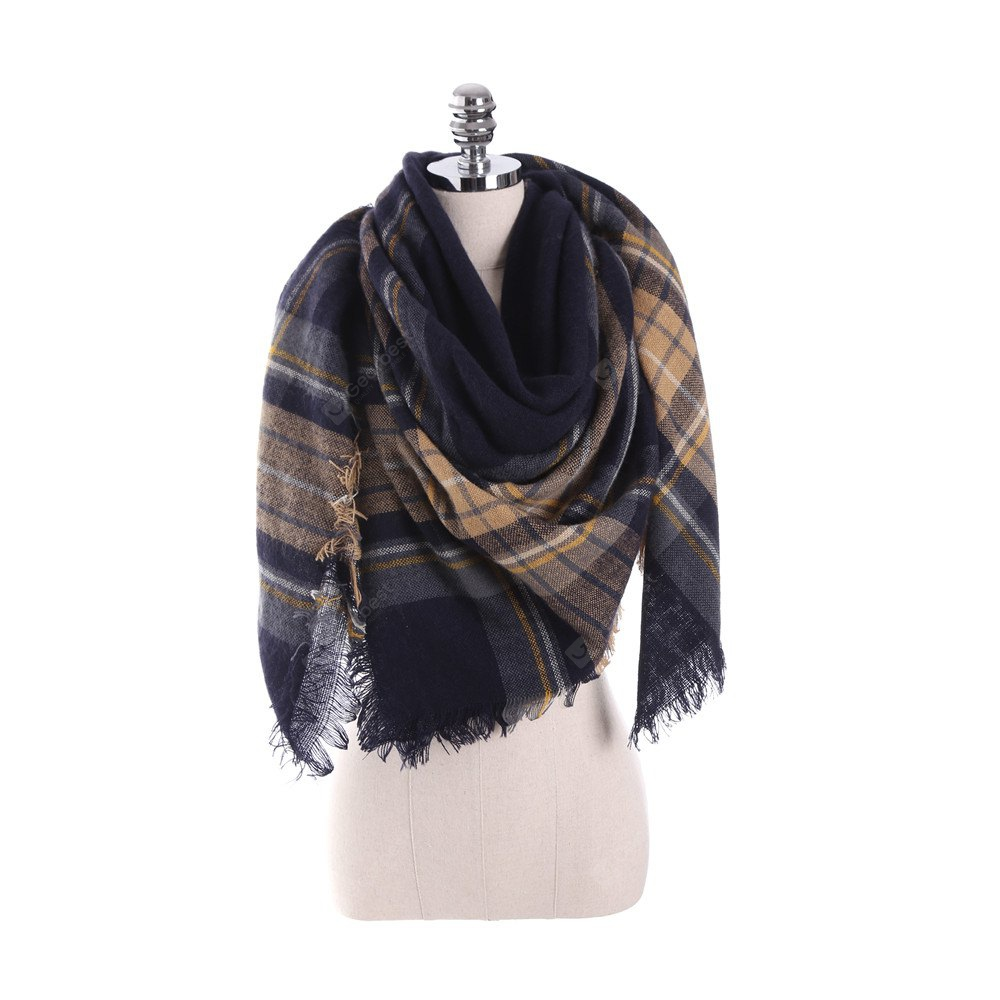 New multicolor Plaid warm fashion scarf scarf