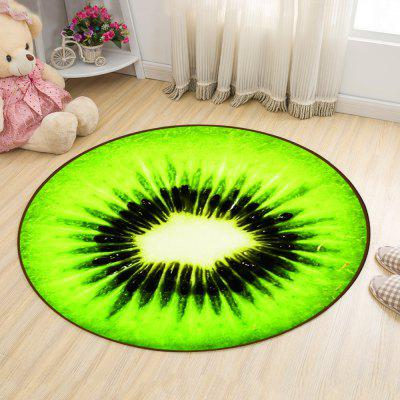Buy GREEN 120X120CM Round Floor Mat Brightcolored Cartoon Fruit Pattern Home Decorative Mat2 for $60.51 in GearBest store