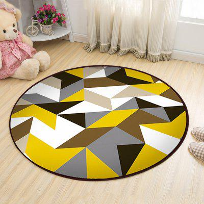 Buy COLORMIX 120X120CM Floor Mat Modern Style Geometry Pattern Multi Colored Round Decorative Mat1 for $55.30 in GearBest store