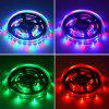 HML 2pcs 5M 24W RGB SMD2835 300 LED RGB Strip Light - with IR 20 Keys Music Remote Control and EU Adapter - RGB