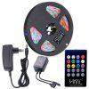 HML Waterproof LED Strip Light 5M 24W RGB SMD2835 300 LEDs - con IR 20 Keys Music Remote Control y EU Ad - RGB