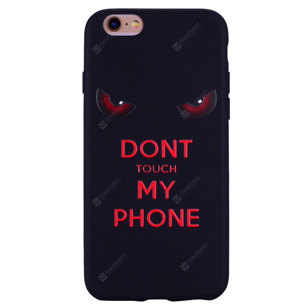 Red eyes. Phone Case for IPhone 6 / 6S Case Cartoon Relief Soft Silicone TPU Cover Cases Protection Phone Bag with
