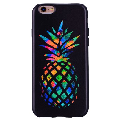 Colorful pineapple Phone Case for IPhone6 Plus / 6s Plus Cartoon Relief Soft Silicone TPU Cover Cases Protection Phone Bag