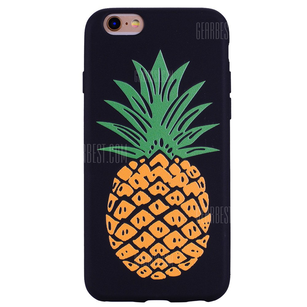 Pineapple Phone Case for IPhone 6 Plus / 6s Plus Case Cartoon Relief Soft Silicone TPU Cover Cases Protection Phone Bag with