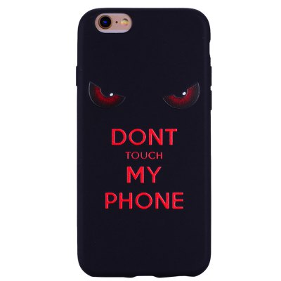 Red eyes. Phone Case for IPhone 6 Plus / 6s Plus Case Cartoon Relief Soft Silicone TPU Cover Cases Protection Phone Bag with