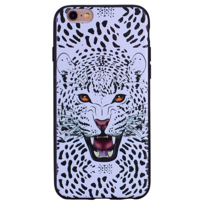 Snow Leopard Phone Case for IPhone 6 Plus / 6s Plus Cartoon Relief Soft Silicone TPU Cover Cases Protection Phone Bag with