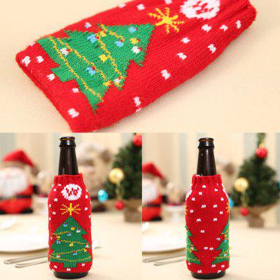 Buy THE CHRISTMAS TREE New Christmas items Christmas knitted wine bottles set Christmas snowman beer bottle sets Christmas decorations for $6.67 in GearBest store