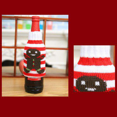 New Christmas items Christmas knitted wine bottles set Christmas snowman beer bottle sets Christmas decorations