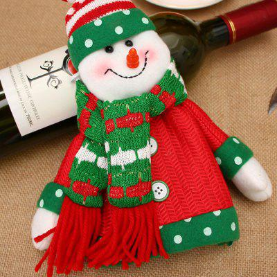 Christmas Home Furnishing Supplies Christmas Wine Bottle Sets Christmas Dolls Champagne Bottle Sets Wine Bottle Decorati
