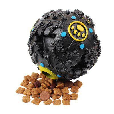 10 CM Hot Sound Leakage Food Ball Dog Toy mascota Shrieking Bola Rompecabezas Dientes Resistentes Juguetes de Mordedura