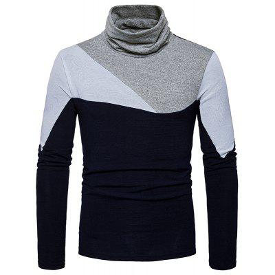 New Men'S Fashion and Leisure Long Sleeved Long Knit Sweater MJ25