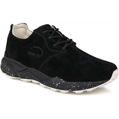 HUMTTO Hommes Chaussures de course Cushioning Cuir léger Sneakers respirant