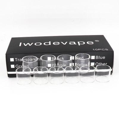 Original Iwodevape E-Cig Atomizer Glass Warehouse TFV8 Tank Glass Tube 10PCS/BOX