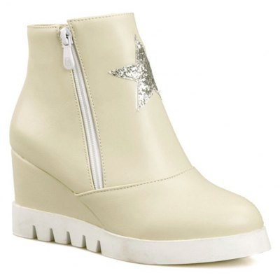 The British Winter Boots with Thick Soles all-match Flat Shoes Short Tube Martin Boots