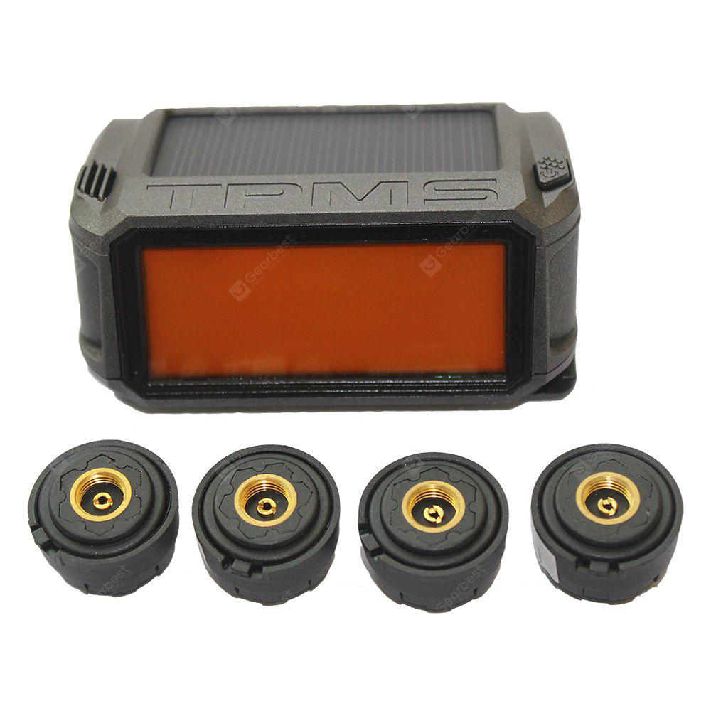 Tire Pressure Monitoring System Solar Powered + 4 External Sensor Tire Pressure Wireless Intelligent LCD Display System