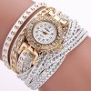 DUOYA D061 Women Girls Wrap Bracelet Wrist Watch with Rhinestones - WHITE