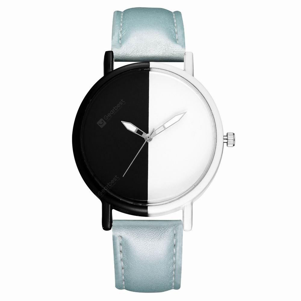 GAIETY Women's Two Tone Dial Leather Band Wrist Watches G523