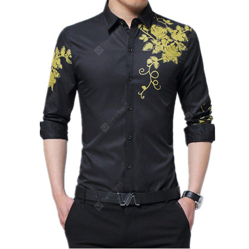 Male Long Sleeved Printed Shirt