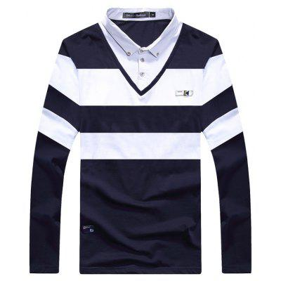 False Two Pieces Long Sleeved T-Shirts for Men